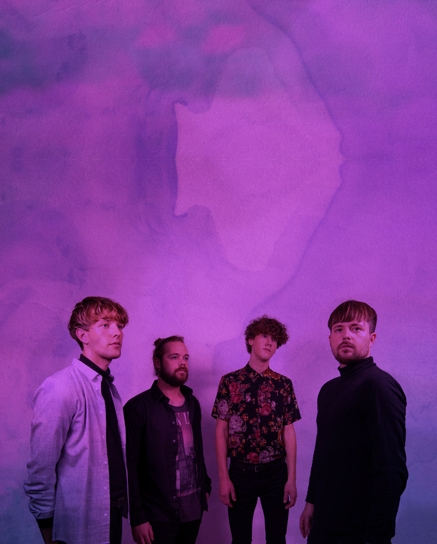 band image on purple background